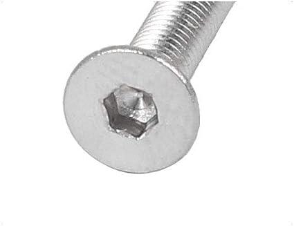 uxcell M3x30mm Hex Socket Flat Head Countersunk Bolts Screw 25pcs a16022300ux0172