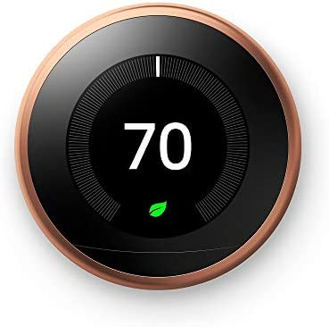 Google Nest Learning Thermostat – Programmable Smart Thermostat for Home – 3rd Generation Nest Thermostat – Works with Alexa – [Copper]
