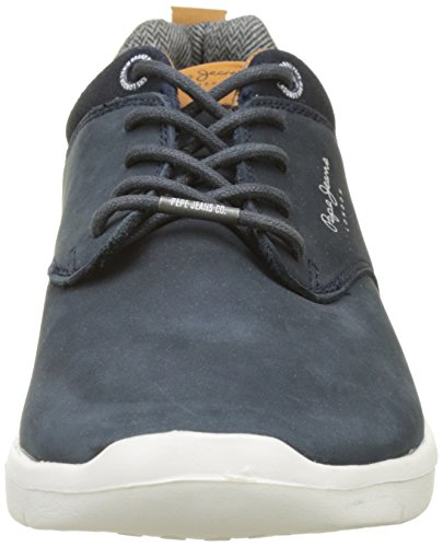 Pepe Jeans London Herren Jayden Nubuck Sneaker Blau (Marine)