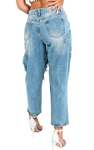Denim Jeans Ikrush en Adele Womens Dtresse Mom n1xxzYvF