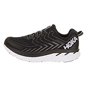 HOKA ONE ONE Women's Clifton 4 Black/White Running Shoes - outer side