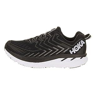 HOKA ONE ONE Women's Clifton 4 Black/White Running Shoe - outer side