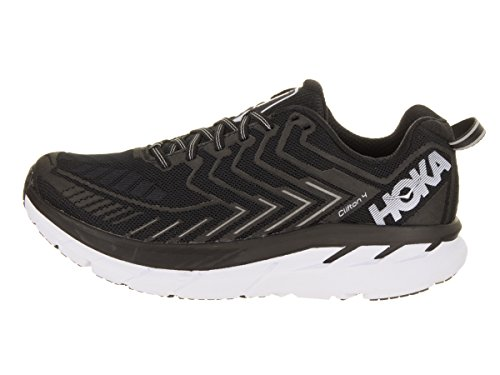 HOKA ONE ONE Women's Clifton 4 Black/White Running Shoe - outer side