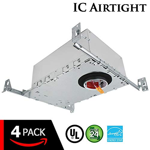 "ESD Tech 4 Pack 2"" Inch LED New Construction Recessed Housing Can with Driver for Ceiling Downlights. Airtight, IC Rated, Dimmable, UL Listed, Energy Star, Title 24 Certified TP24 Connection by ESD TECH (Image #6)"