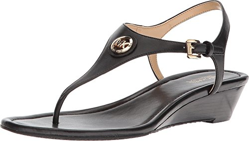 Michael Michael Kors Womens Ramona Leather Open Toe Casual, Black, Size ()
