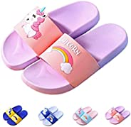 YWY Unisex Kids Unicorn Slide Sandals Slippers Non-Slip for Summer Beach Water Shoes Shower Pool(Boys Girls)