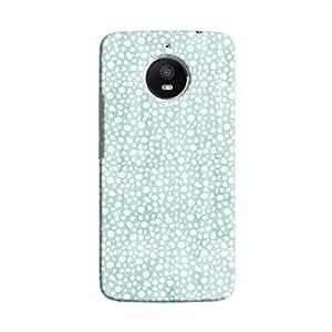 Cover It Up - Blue Pebbles Mosaic Moto E4 Plus Hard Case