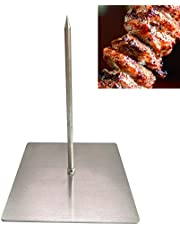 H&W New Upgraded Version Brazilian Gojo Barbecue Skewers ,Vertical Skewer Grill,Barbecue Grilling Rack Meat Spit (Small)