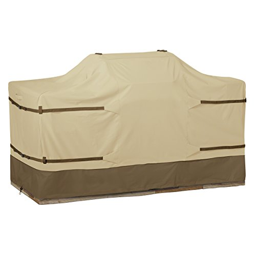Classic Accessories Veranda Full Coverage Center Grill Island Cover, Large (Grill Cover Patio Veranda)