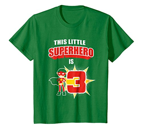 Kids 3rd Birthday Boys Superhero T Shirt Comic Books 3 Year Old