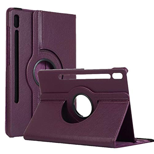 """Price comparison product image 10.5"""" Galaxy Tab S6 Slim Cover,  360 Degree Rotate Case Multi-Viewing Kickstand Book Flip Shell Thin Full Body Protective Cover for 2019 Galaxy Tab S6 10.5 inch(SM-T860 / T865 / T867) (Purple)"""