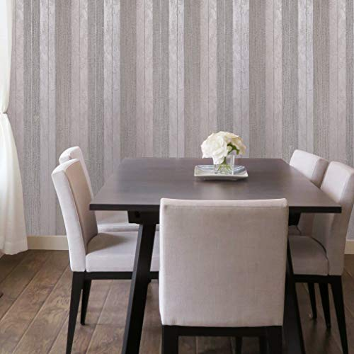 10m Made in Italy Portofino Italian wallcoverings Embossed Striped Vinyl Non-Woven Wallpaper Rose Silver Pink Metallic Stripes Modern Textured Textures Double Rolls coverings Paste The Wall only 3D