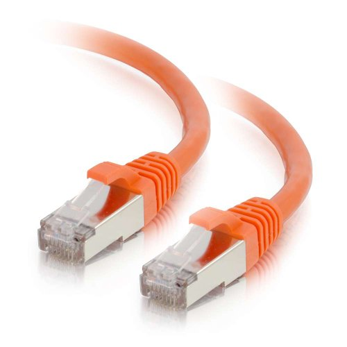 Shielded Cat5e Snagless Patch Cord - C2G 00885 Cat6 Cable - Snagless Shielded Ethernet Network Patch Cable, Orange (10 Feet, 3.04 Meters)