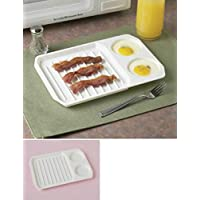 Microwave Bacon and Egg Cooker Bacon Baking Tray Bacon Baking Utensils Microwave Oven Baking Dish