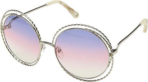 Chloe Women's Carlina Torsade - CE114STL Gold/Rainbow Lens One Size - Chloe Womens Apparel
