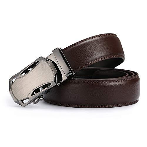 cm automatica uomo fibbia 120 Cintura cm Cricchetto pelle per Cintura marrone per uomo 120 con Lllm in classica 1gTHAwq