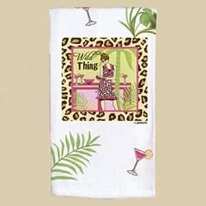 Girls Night Out fiesta Niñas Wild Thing Animal Print harina saco toalla