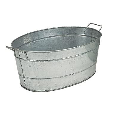 Achla Designs C-51 Standard Oval Galvanized Steel Tub