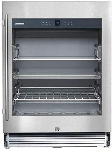Liebherr RU510 3.8 cu. ft. Capacity Built In Compact Beverage Center with Reversible Door in Stainless Steel