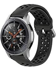 TERSELY Sport Repalcement Band Strap for Samsung Gear S3 / Galaxy Watch 46mm / Watch 3 45mm, 22mm Soft Silicone Bands Fitness Sports for Galaxy S3 Frontier/Classic/Galaxy Watch 3 - Black
