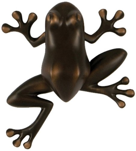 Tree Frog Door Knocker - Oiled Bronze (Premium Size)