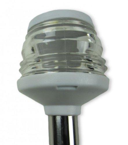 Decksbefestigung Lichtmast Rundumlicht 1 Meter wei/ßes Geh/äuse z
