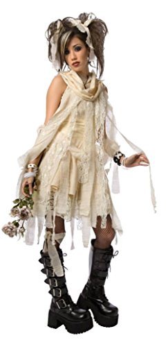 Plus Size Gothic Mummy Costumes (Morris Costumes Womens Egyptian Gothic Mummy Dead Zombie Baby Doll Fancy Dress, L (12-14))