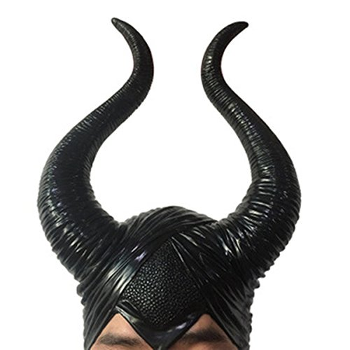 Maskshow Maleficent Headpiece Longhorn Deluxe Halloween Cosplay Costume Horns]()