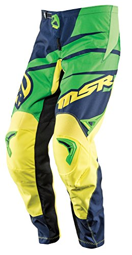 Msr Youth Axxis Pants - MSR M15 Axxis Youth Pants, Gender: Boys, Primary Color: Green, Distinct Name: Blue/Green/Yellow, Size Segment: Youth, Size: 24 352240