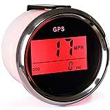 ELING Digital GPS Speedometer Odometer with Backlight 2' Red Backlight 12V 24V