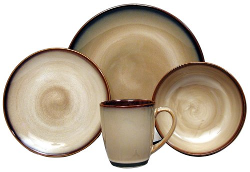 Sango Nova Brown 16-Piece Dinnerware Set, Service for 4