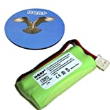 HQRP Cordless Phone Battery for VTech BT283342 / BT162342 Replacement plus Coaster