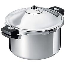 Kuhn Rikon 30331 Duromatic Family Style Pressure Cooker Stockpot 8 Quart, Stainless