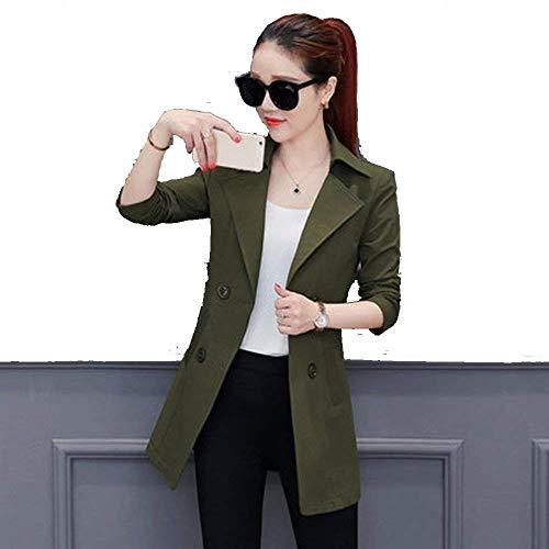 Femme Coat Automne Hiver Uni Manche paisseur Warm Spcial Style Manches Longues Revers Slim Fit Double Boutonnage Fashion Elgante Manteau De Laine Outerwear Blouson Manteaux C