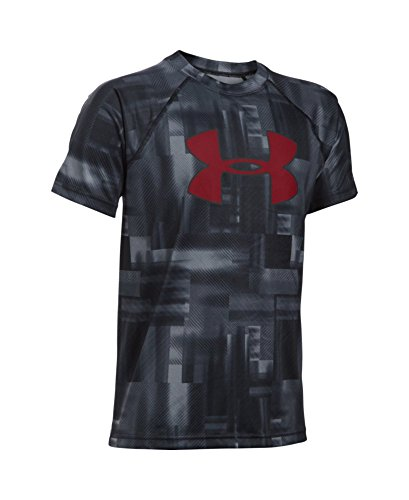 Under Armour Boys' Novelty Big Logo T-Shirt, Black (015), Youth Medium