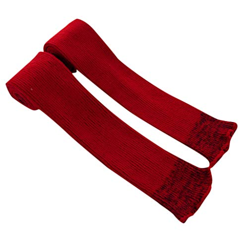 Pervobs Ladies Women Thigh High OVER the KNEE Socks Long Cotton Stockings Warm Leggings Sheer(Wine Red) by Pervobs Sock&Sockings (Image #3)