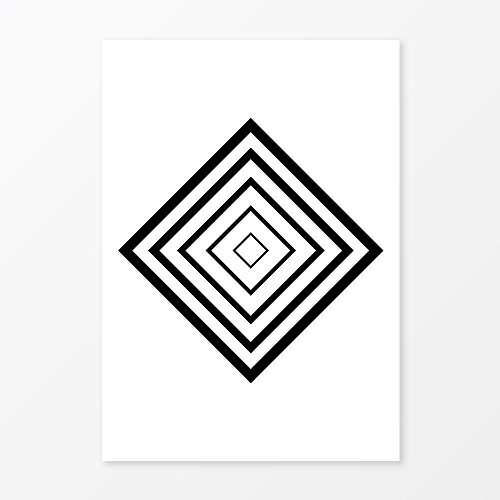 Abstract Rectangle Poster, Great Minimalist Gallery Wall Art, Size 5x7, 8x10, 11x14 and more