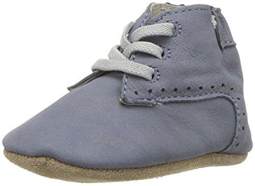 Robeez Boys' Boot-First Kicks Crib Shoe, William-Blue, 0-3 Months M US ()