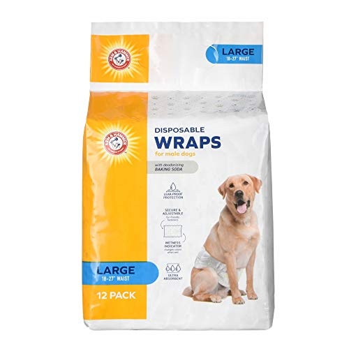 Arm & Hammer for Pets Male Dog Wraps, Size X-Small, 12 Count Ultra-Abosorbent