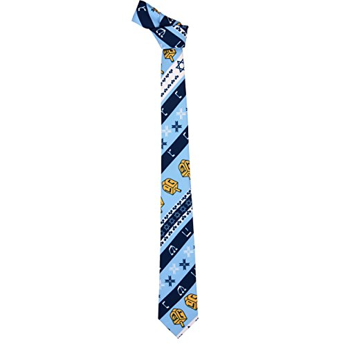 Forever Collectibles Hanukkah Repeat Logo Ugly Tie
