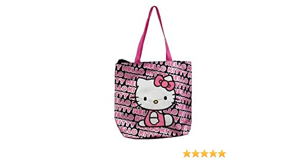Amazon.com   Hello Kitty Tote Bag (Pink Black)   Travel Totes 56954d8cb3