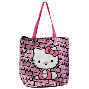 ae43af517f Image Unavailable. Image not available for. Color  Hello Kitty Tote Bag ( Pink ...