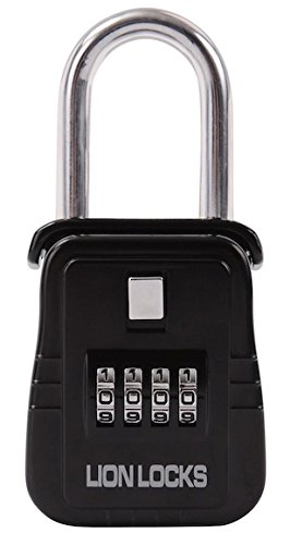 Lion Locks 1500 Key Storage Lock Box With Set Your Own Combination Black 18