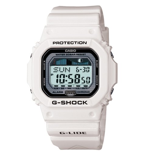 Casio Men's GLX5600-7 G-Shock G-Lide Surfing Watch - white