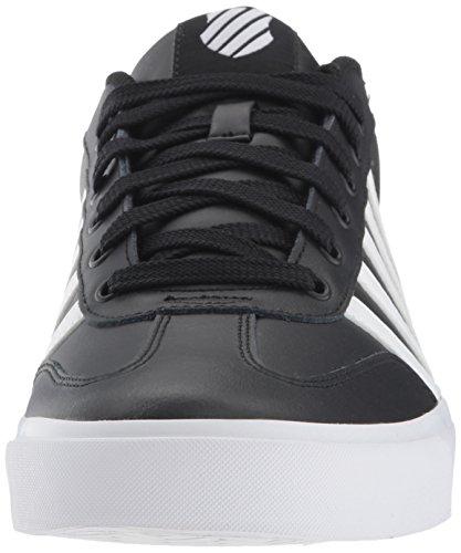 K-swiss Mens Addison Vulc Lederen Sneaker Zwart / Wit