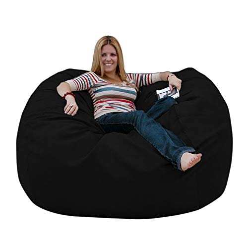Cozy Sack 5-Feet Bean Bag Chair, Large, Black