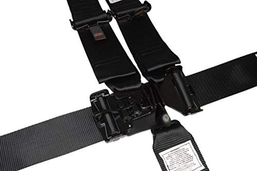 Racerdirect.net Racing Harness 3'' V Roll Bar Mount 5 Point Latch & Link Safety Race Harness Black by Racerdirect.net (Image #2)