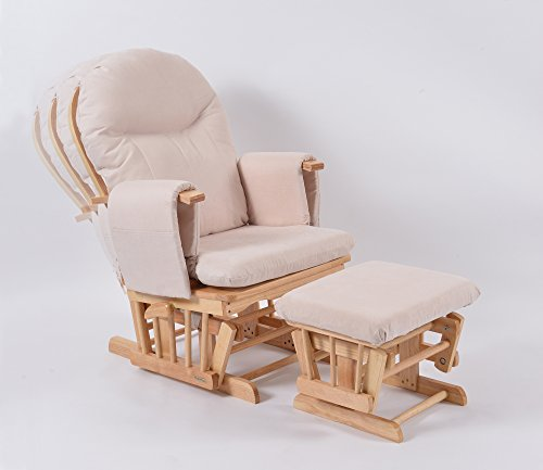 Habebe Glider Rocking Nursing Recliner Chair with footstool and brake system by Habebe