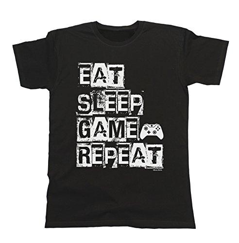 Custom Vinyl Camiseta Dia del Padre pap/á de Dia Games de Noche Negra, 2XL