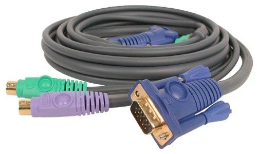 IOGEAR  Ps2 3-In-1 Premium Kvm Cable Kit G-2L1003P (10 Feet) -